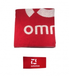omniva - bath - towel - with - branding - photo