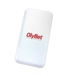 Powerbank with Olybet logo