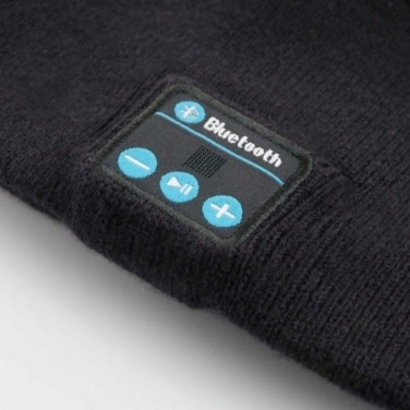 Logo trade business gift photo of: Bluetooth Beanie 3.0  color black