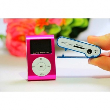 Logotrade business gifts photo of: Mini Clip-on MP3  color pink