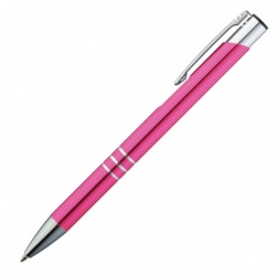 Logotrade advertising product image of: Metal ball pen 'Ascot'  color pink