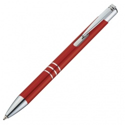 Logo trade advertising products picture of: Metal ball pen 'Ascot'  color red