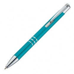 Logotrade promotional product picture of: Metal ball pen 'Ascot'  color teal