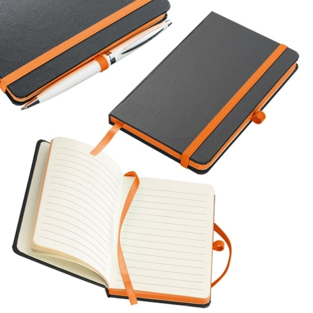 Logo trade promotional product photo of: Notebook 'Rostock'  color orange