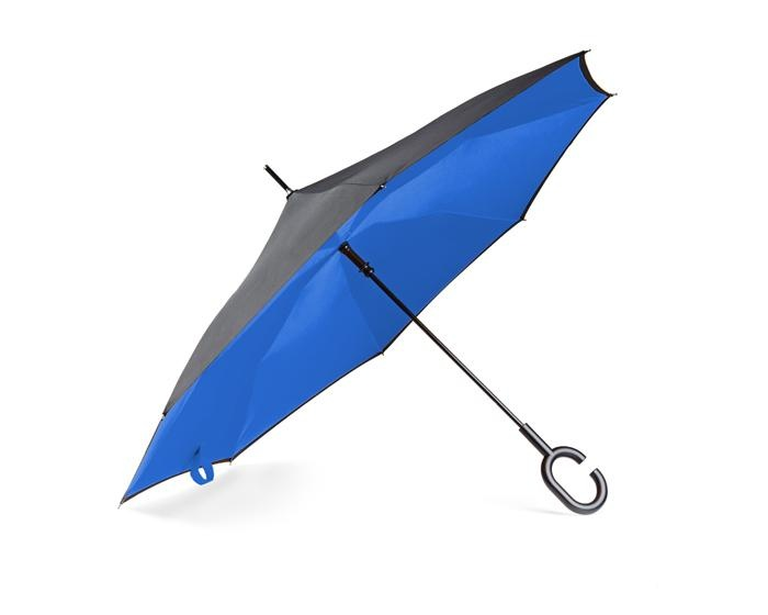 Logo trade promotional gifts picture of: Umbrella Revers black and blue