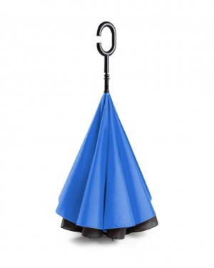 Logo trade advertising product photo of: Umbrella Revers black and blue