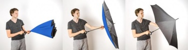 Logotrade business gifts photo of: Umbrella Revers black and blue