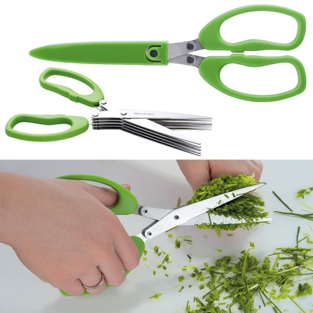 Logo trade promotional items picture of: Chive scissors 'Bilbao'  color light green