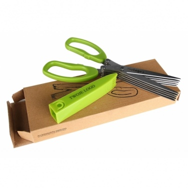 Logo trade advertising product photo of: Chive scissors 'Bilbao'  color light green