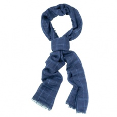 Cool striped scarf navy blue