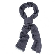 Fashionable unisex scarf, grey
