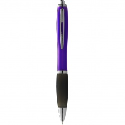 Logo trade promotional item photo of: Nash ballpoint pen, purple