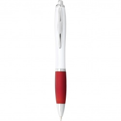 Logo trade promotional merchandise photo of: Nash Ballpoint pen, red