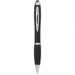 Logo trade promotional gifts image of: Nash stylus ballpoint pen, black