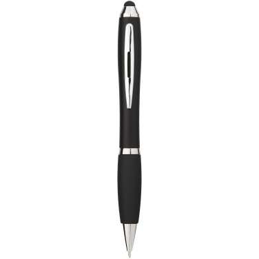 Logo trade promotional merchandise image of: Nash stylus ballpoint pen, black