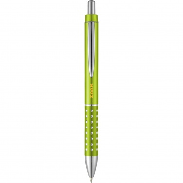Logo trade advertising products image of: Bling ballpoint pen, light green