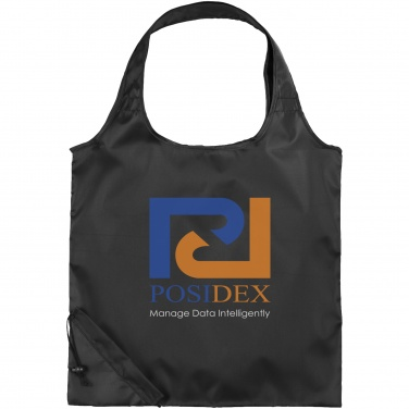 Logo trade promotional giveaways image of: The Bungalow Foldaway Shopper Tote, black