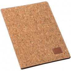 A4 cork folder with pad, beige