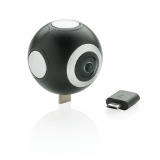 Dual lens 360° photo and video camera