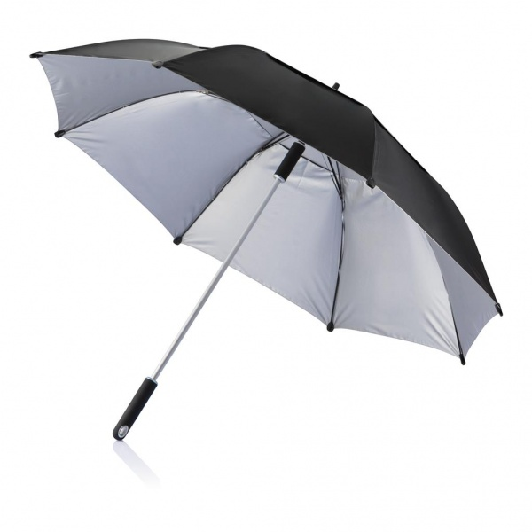 120 cm Hurricane storm umbrella, black/silver