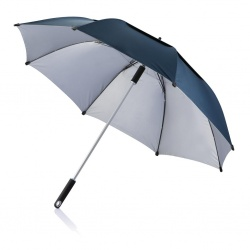 "Logo trade corporate gifts picture of: 27"" Hurricane storm umbrella, blue"
