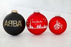 Logotrade advertising products photo of: Christmas ball with 1 color logo 6 cm