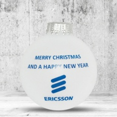 Christmas ball with 1 color logo 7 cm