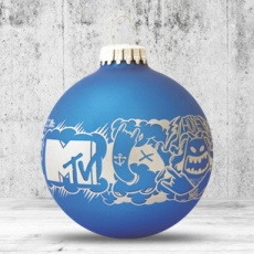 Christmas ball with 1 color logo, 8 cm