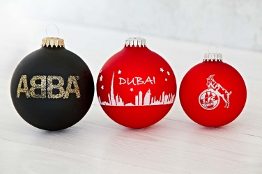 Logo trade promotional gift photo of: Christmas ball with 4-5 color logo 6 cm