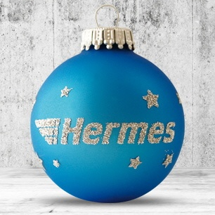 Logotrade promotional item image of: Christmas ball with 4-5 color logo 6 cm