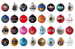 Logo trade promotional items image of: Christmas ball with 4-5 color logo 6 cm