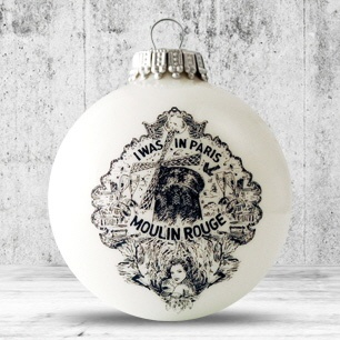 Logo trade business gift photo of: Christmas ball with 4-5 color logo 6 cm