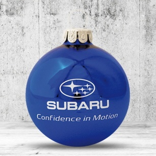 Logo trade promotional giveaways picture of: Christmas ball with 4-5 color logo 6 cm