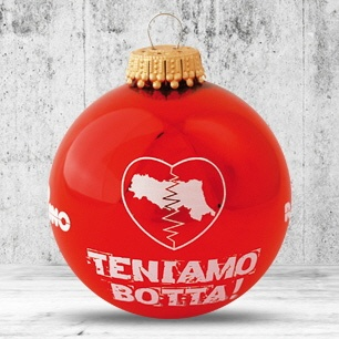 Logotrade business gift image of: Christmas ball with 4-5 color logo 6 cm
