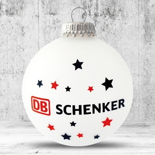 Logotrade promotional giveaway image of: Christmas ball with 4-5 color logo 6 cm