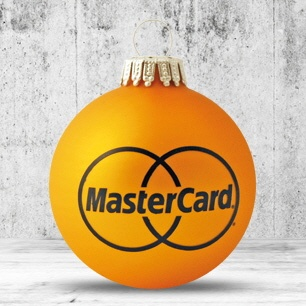Logotrade promotional gift image of: Christmas ball with 4-5 color logo 6 cm
