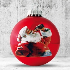 Christmas ball with 4-5 color logo 8 cm