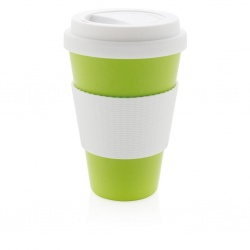 Logotrade promotional item picture of: ECO bamboo fibre cup 430ml, green