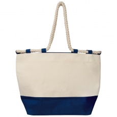 Beach bag with drawstring, dark blue