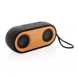 Logotrade promotional product image of: Bamboo X double speaker, black