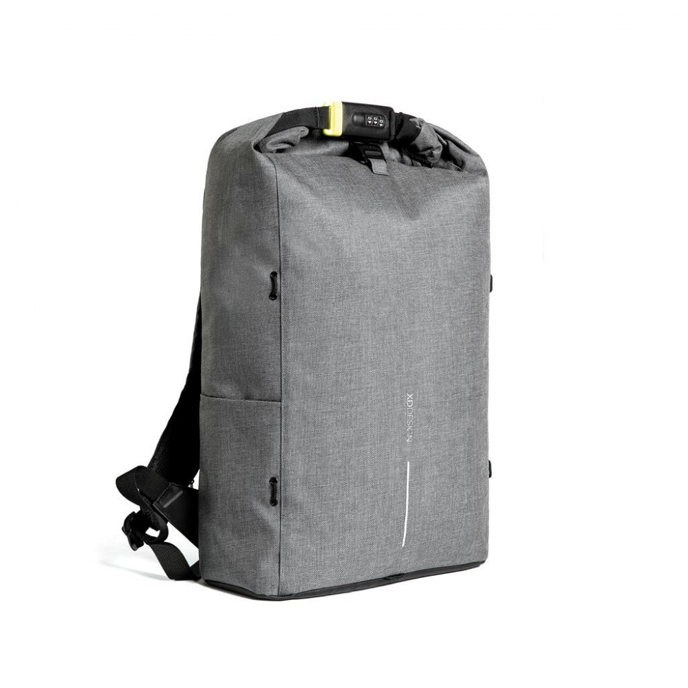 Logo trade business gifts image of: Bobby Urban Lite anti-theft backpack, grey