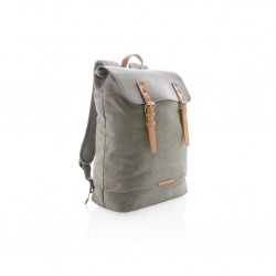 Logotrade advertising product picture of: Canvas laptop backpack PVC free, grey
