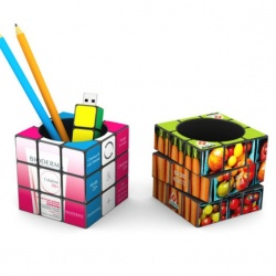 Logo trade promotional product photo of: 3D Rubik's Pen Pot