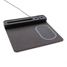 Air mousepad with 5W wireless charging and USB, black