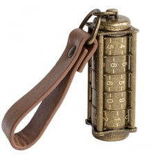 Cryptex, Antique Gold USB flash drive with combination lock 16 Gb
