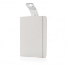A5 Notebook & LED bookmark, white