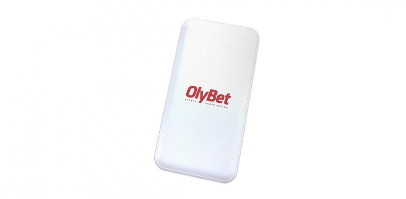Olybet logo tampotrükiga akupangal