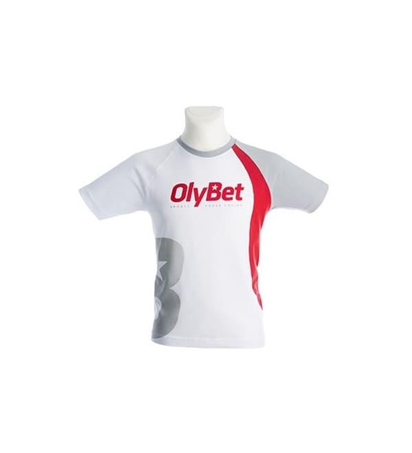 Olybet logoga T-särk trükiga