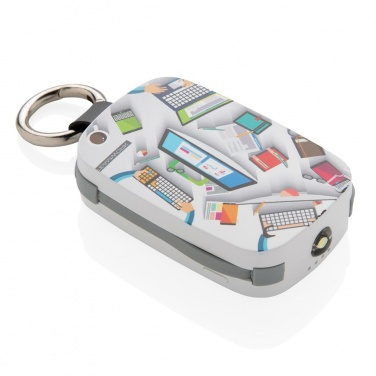 Logotrade firmakingid pilt: Reklaamkingitus: 1.200 mAh Keychain Powerbank with integrated cables, white