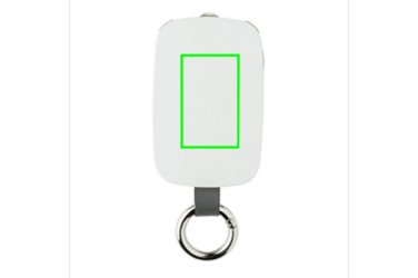 Logo trade reklaamtooted foto: Reklaamkingitus: 1.200 mAh Keychain Powerbank with integrated cables, white